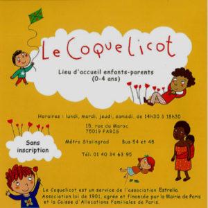 plaquette du Lieu d'accueil enfant-parent Le Coquelicot